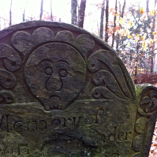 chandler hill gravestone deaths head carving